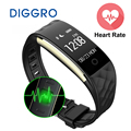Diggro S2 Bluetooth Smart Band Wristband Heart Rate Monitor IP67 Waterproof Smartband Bracelet For Android IOS Phone pk fitbits