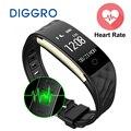 Diggro s2 bluetooth banda inteligente pulseira monitor de freqüência cardíaca pulseira smartband para android ios telefone ip67 à prova d' água pk fitbits
