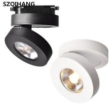 Ultrathin COB led down light 5W 7W 10W  spot lamp surface mounted downlight lighting track white black body
