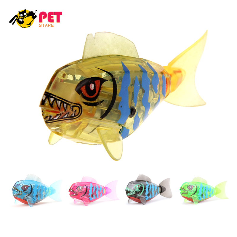 Aquarium decoration robofish activated battery powered for Robot fish toy