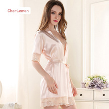 Short Sleeve Robe Gown