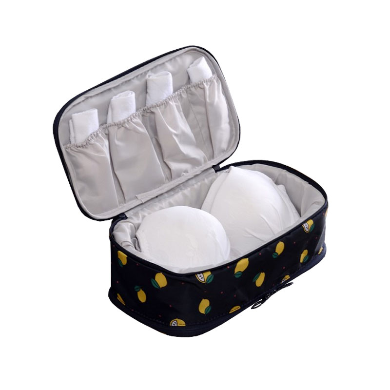 3 Compartments Multi Purpose Zipper Travel Packing Cube Durable Waterproof Fabric Travel Accessories For Briefs Brassiere Socks