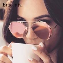 ФОТО emosnia ladies pink mirror sunglasses women pilot luxury brand shades sun glasses for women 2018 designer oculos luneete femal