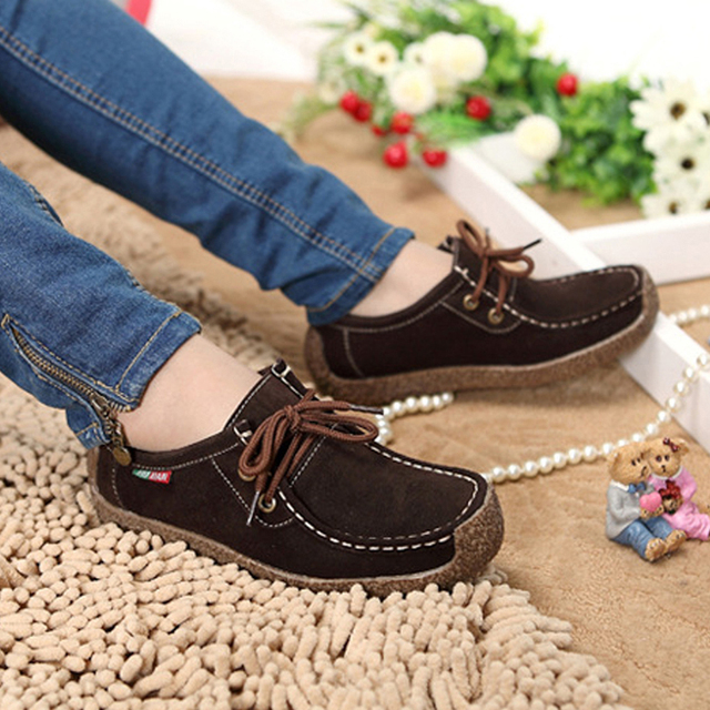 2016 Winter New Fashion Women Flats Comfortable Solid Women Casual Shoes Wild Lace-up Sneakers Leisure Warm Ladies Shoes DVT90