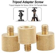 6mm Tripod Thread Screw Adapter 3/8 inch Female to 1/4 inch Male Tripod Thread Reducer Adapter Brass Copper For Tripod Screw