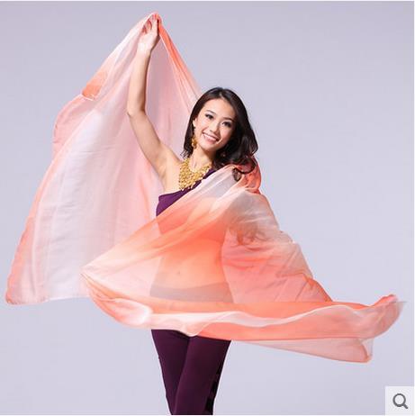 Belly dance accessories senior IMITATED SILK FABRIC 2.5*1.2m belly dance veils for women belly dance sacrf