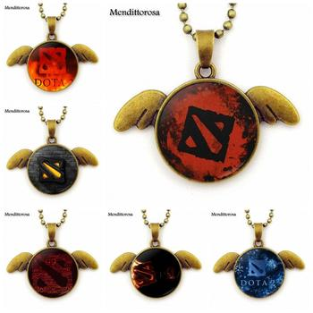 Dota 2 For Unisex Party Gift Brand Glass Cabochon Bronze Angel Wings Necklace Jewelry Gift 1
