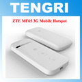 Abierto original de zte mf65 hspa 21.6 mbps 3g 2100 mhz wireless pocket router wifi de banda ancha móvil pk mf60 mf61 mf62