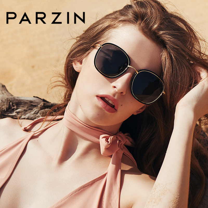 PARZIN Brand Top Grade Women Vintage Sunglasses Fashion Adult Polarized Glasses Alloy Frame Square Driver Sunglasses