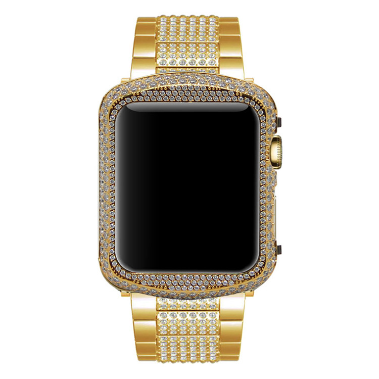 Crystal Diamond Watch Case For Apple Watch Shell frame (15)