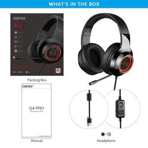Image 5 - EDIFIER G4 Pro USB Gaming Headset mit Virtuelle 7,1 Surround Sound RGB Lichter Magische Stimme Funktion Versenkbare Boom Mikrofon