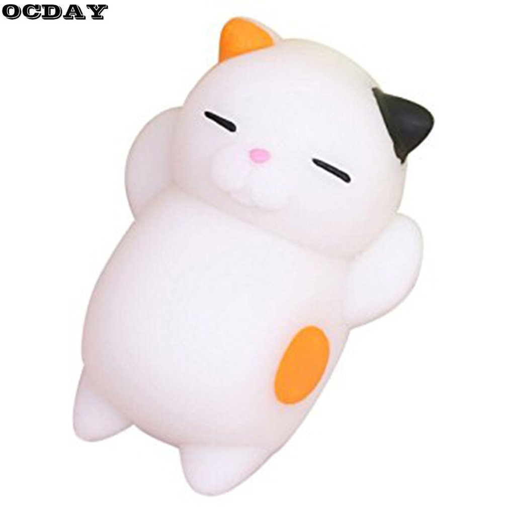 1PC Cute Mochi Squishy Cat Toy Antistress Ball Stress-Relief Soft Mini Animal Squeeze Decompression Healing Toy Kids Funny Gift