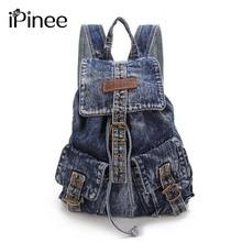 Ipinee повседневные школьные сумки женщина сумка холст рюкзаки для девочек-подростков винтажные Рюкзак Дорожная Сумка