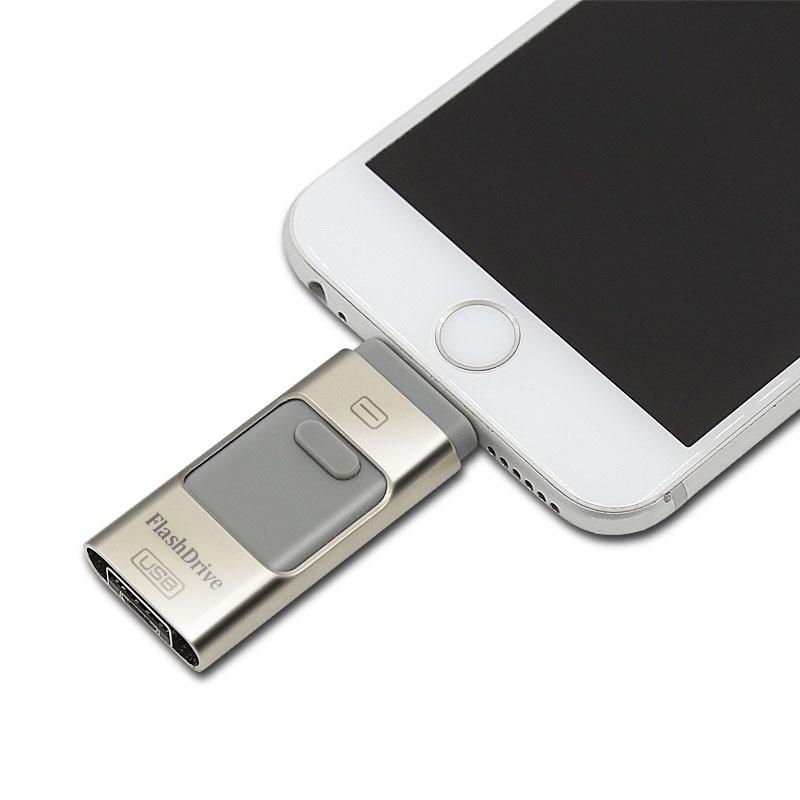 Pour iPhone 6 6 s Plus 5 5S ipad Stylo lecteur HD mémoire bâton Double objectif mobile OTG Micro USB Flash Drive 16 GB 32 GB 64 GB PENDRIVE