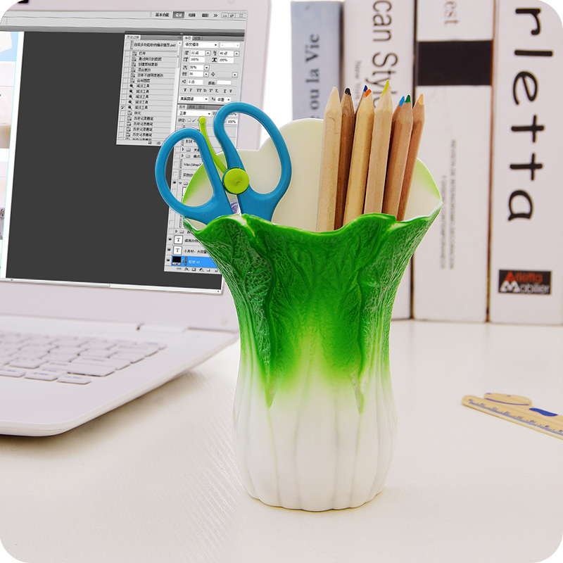 new chinese cabbage storage box plastic cosmetics organizer school office supplies suction cup stick wall toothbrush