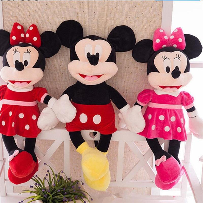 Nouveau 2019 offre spéciale 100 cm qualité supérieure En Peluche Mickey et Minnie Souris peluche Poupées D'anniversaire cadeaux de mariage Pour Enfants Bébé Enfants