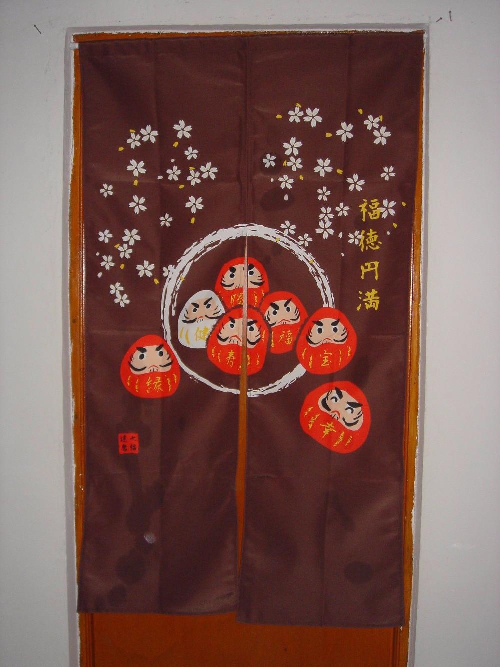 Free Shipping Ukiyo E Feng Shui Japanese Sushi Restaurant Kitchen Doorway  Split Cloth Curtain Noren
