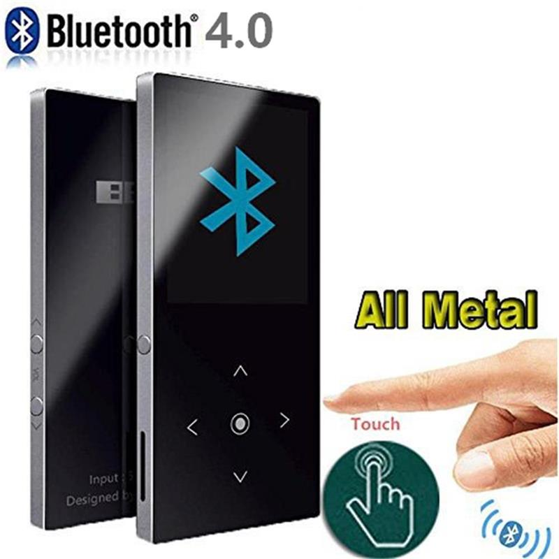 Original BENJIE K8 Bluetooth MP3 Player With Speaker Touch Button Lossless Music HiFi Sound Player With FM Radio, Voice Recorder