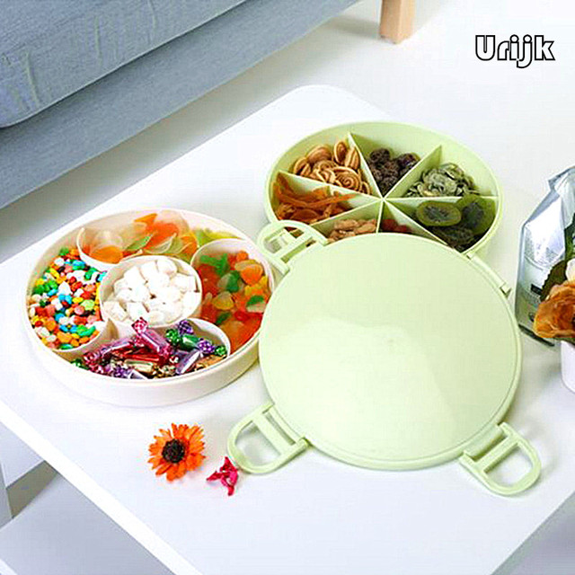 Urijk Candy Fruit Nuts Storage Box Organizer Home Accessories Round Plate Holder Boxes Double-layer  sc 1 st  AliExpress.com & Urijk Candy Fruit Nuts Storage Box Organizer Home Accessories Round ...
