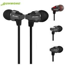 Awei ES860hi Super Bass In-Ear stereo Music auriculares Auriculares con micrófono Mic Control Remoto de Volumen para el iphone para Samsung