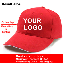 10pcs/lot High Quality DIY Your Own Cap Custom Logo Caps Women Men Snapback Blank Customized Hats Dad Printed Free Shipping