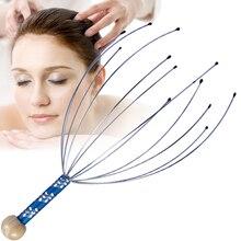 5pcs/lot Healthsweet Octopus Head Roller Massage Stick Scalp Scratching Head Trigger Multi-Point Reflexology Drop Ship