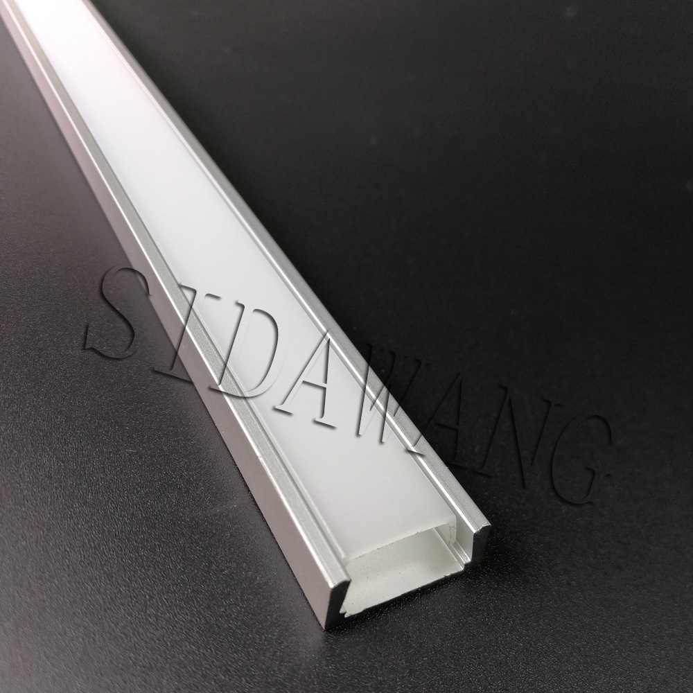 2000mm piece Recessed Surfaced mount slim 7mm Aluminum led strip profile 2m U alu channel for