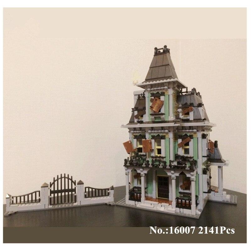 H & HXY в наличии 16007 2141 шт. Монстр истребитель дом с привидениями Модель Набор строительных Наборы Лепин модель совместима с 10228