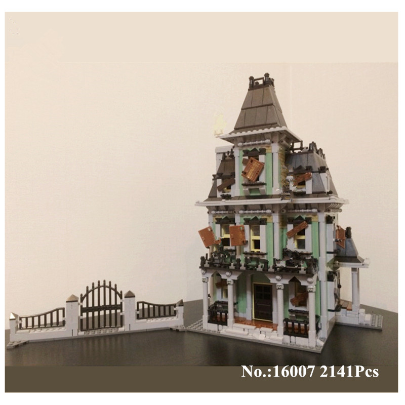 H&HXY IN STOCK 16007 2141Pcs Monster fighter The haunted house Model set Building Kits Lepin Model  Compatible With 10228 h p lovecraft the dreams in the witch house
