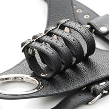 1pc Leather Fixed Penis Ring Male Chastity Device Belt Penis Sleeve Cock Cage For Men Cock Rings