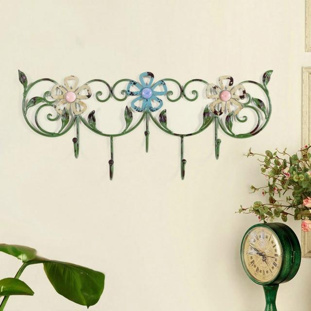 metal decorative hook creative cafe locker keys hanging wall rose hall wall hooks beautiful wall decoration