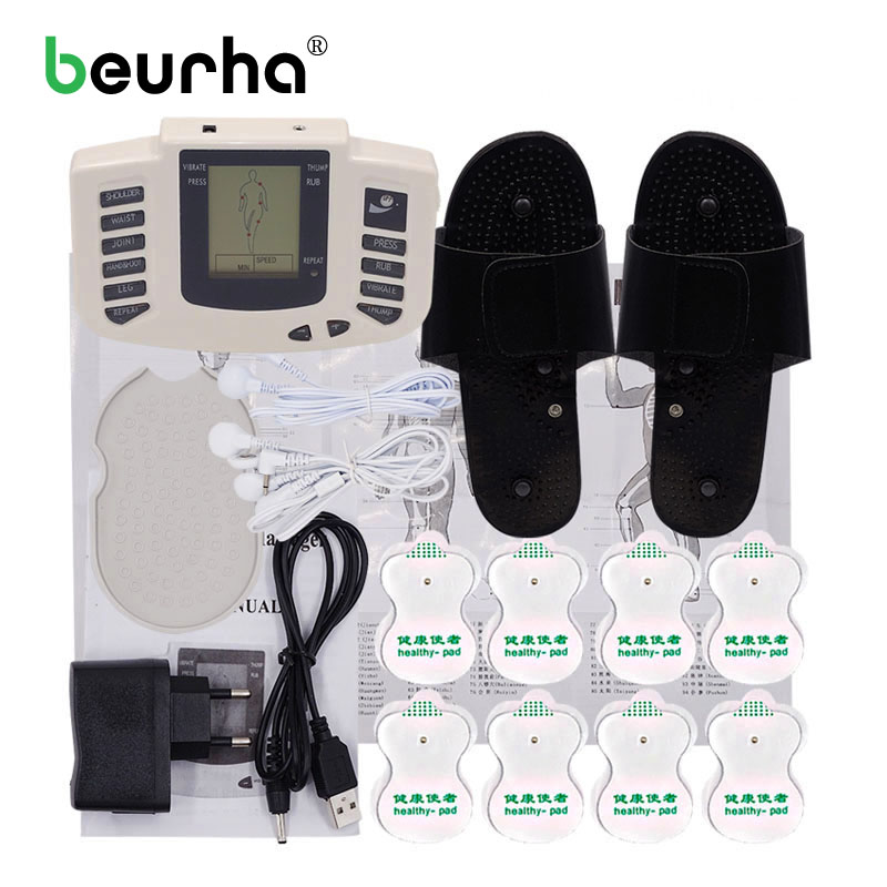 Electric Body Relax Massager Muscle Training Massage Tens Acupuncture Full Body Digital Therapy massager with 16 Electrode Pads 2017 full body massager pulse slimming muscle relax massage electric slim 4 pads jun30 15