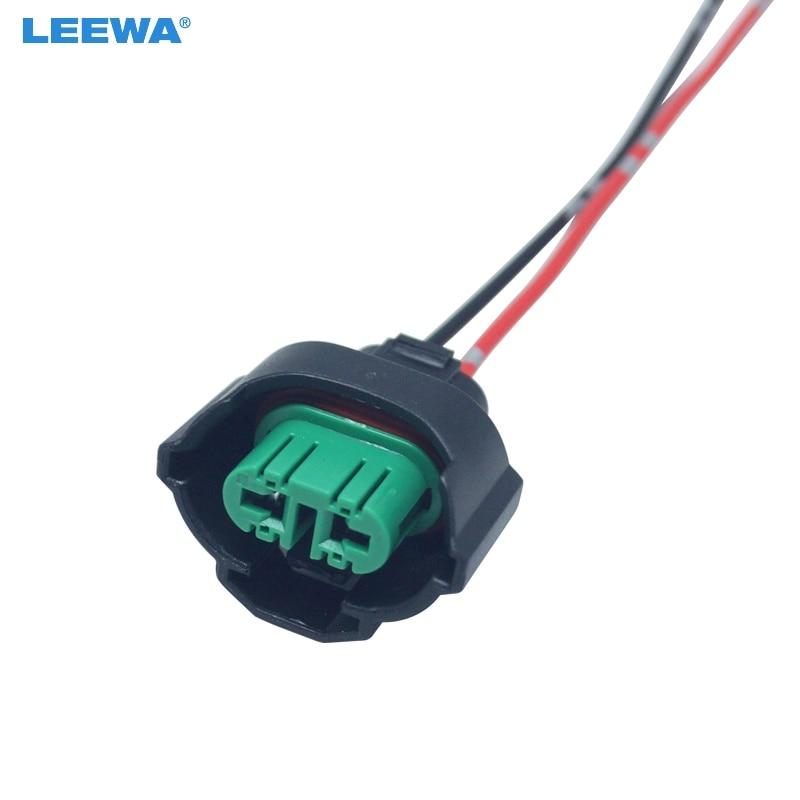 LEEWA 50PCS Car H11 881 Headlight Lamp Holder Socket LED HID Halogen on