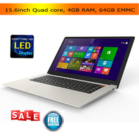 15.6inch cheap laptops 4GB 64GB EMMC Atom X5 Z8350 quad core CPU bluetooth HDMI Windows 10 netbook laptop