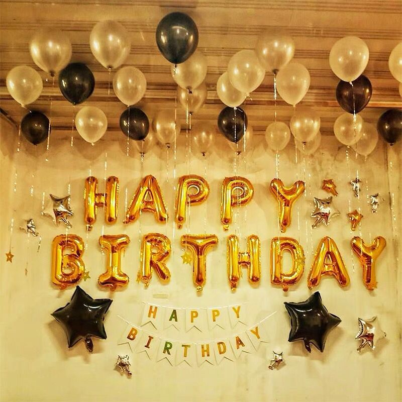 Baby Shower Letter Balloons.Us 1 34 16 Off 16inch Gold Happy Birthday Letter Balloons Baby Shower Birthday Party Decor Alphabet Globos Air Inflatable Gifts Toys Supplies In