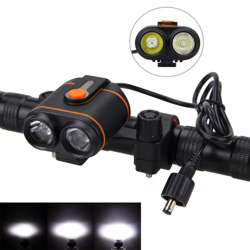 Lámpara delantera para bicicleta 10000LM 2x XM-L2 LED Luz de bicicleta Antorcha Linterna recargable Linterna + 16000mAh Batería + Cargador