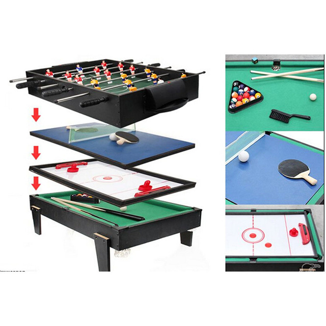Superieur 4 In 1 Multi Game Table For Children Pool / Air Hockey / Table Tennis /