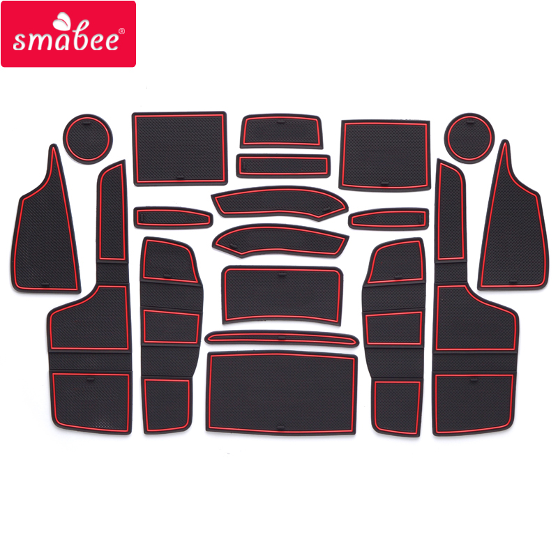 Smabee Gate Slot Pad For FORD RANGER 2015-2019 Interior Door Pad/Cup Non-slip Mats 19PCS