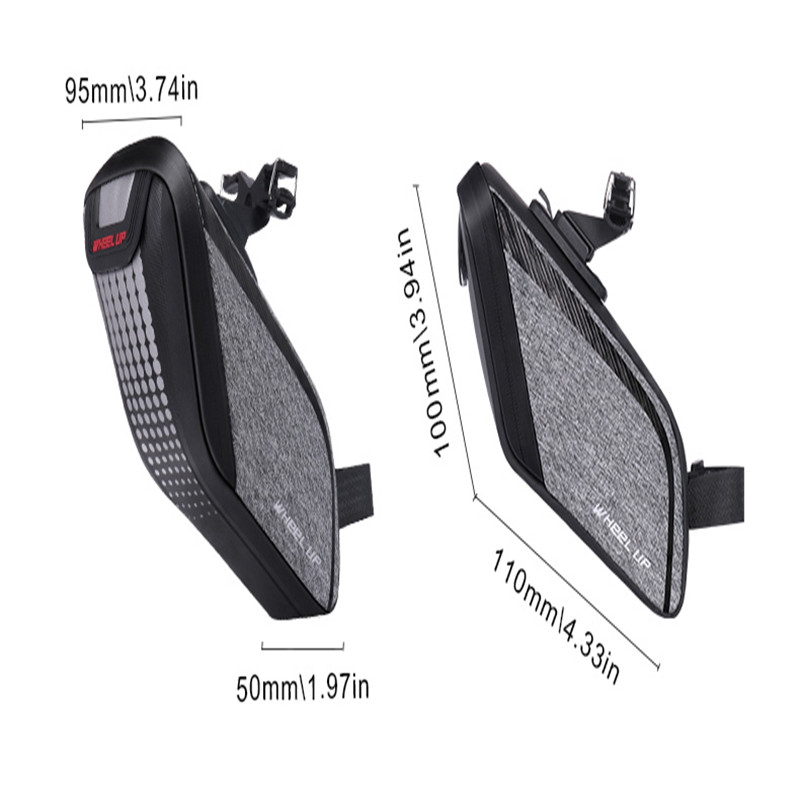 Wheel up Rainproof Bicycle Bag 3D Shell Bike Saddle Bag Reflective Shockproof Cycling Bag Rear Seatpost Bag Bike Accessories