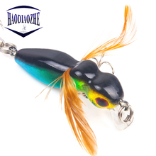 Купить с кэшбэком CrankBait Fishing Lure Hard Lure 4.5cm 3.5g Imitation Ant with Feather Wobblers Artificial Hard Bait Minnow Pesca Fishing Tackle