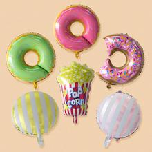 Donut Themed Party Decorations Doughnut Popcorn Candy Foil Latex Balloons Baby Shower Birthday Decor Supplies