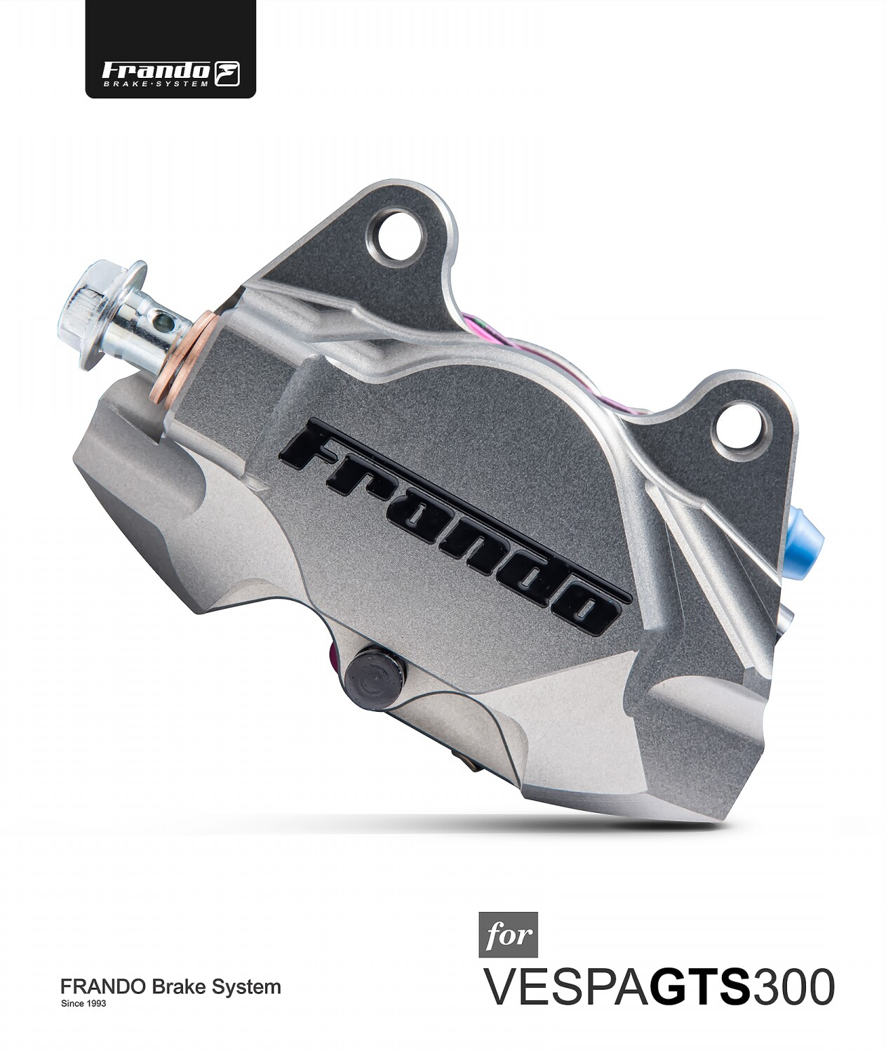 Image 5 - Frando F901 series CNC pair piston calipers Rear brake calipers for piaggio vespa  GTS 300/ LX/LXV crabs-in Brake Shoe Sets from Automobiles & Motorcycles