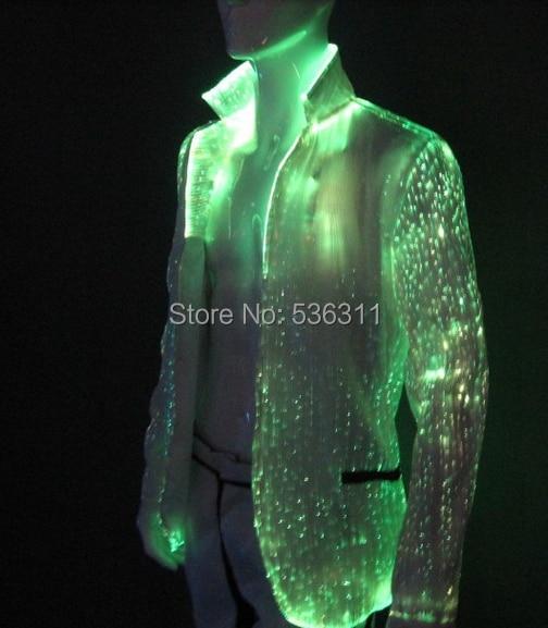 led men blazers led stage performance costume suit luminous gentleman winter jacket nightclub luminous suit