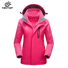 2017 Autumn Winter TECTOP thickening jirong two-piece outfit Winter warm waterproof breathable Women jacket Camping ski coat