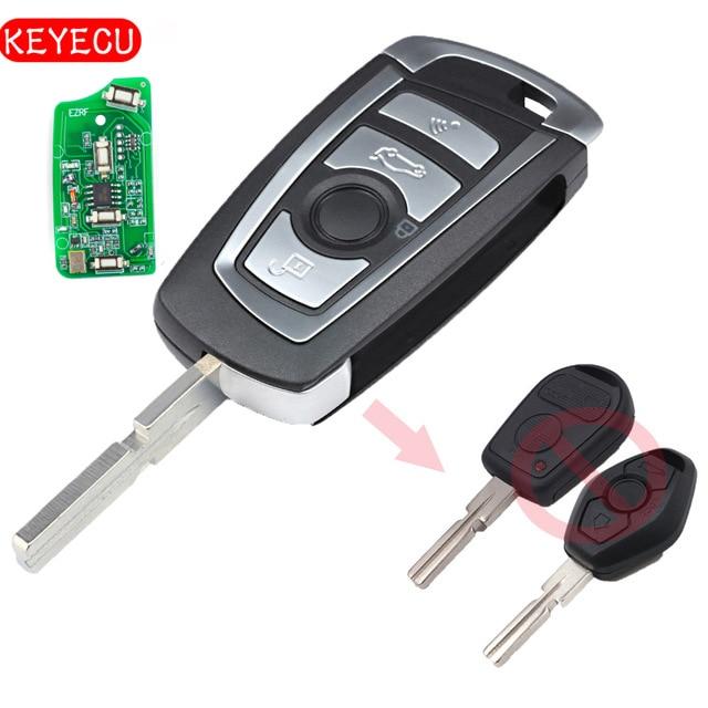 Keyecu EWS Modified Flip Remote Key 4 Button 315MHz/433MHz PCF7935AA ID44 Chip for BMW E38 E39 E46 M5 X3 X5 Z3 Z4 HU58 цена и фото
