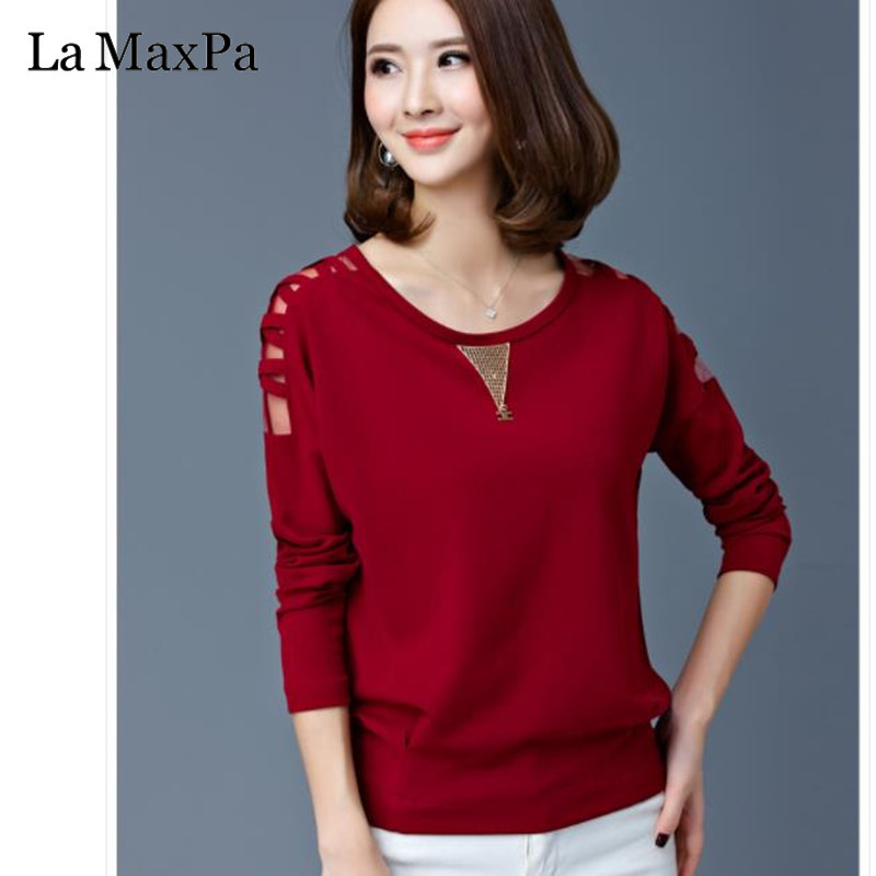 Nueva Blusas Maxpa Mujer Algodón Ropa Camisas rojo blanco Manga Suelta Damas 2019 La Negro Tops De Mujeres Primavera Blusa Larga Para Hueco dXFtUUx