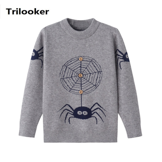 c4c2b25a75c9 2T to 6T kids boys fashion cartoon long sleeve pullover knitted ...