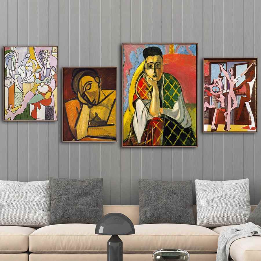 Home Decoration Print Canvas Art Wall Pictures Poster Canvas Printings Paintings Spanish Pablo Picasso Abstract Figure