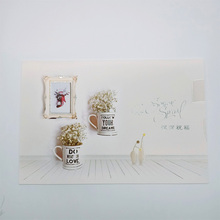 1Pcs/lot Deeply blessed large greeting card hot stamping party invitation Greeting Card Birthday Gift Message Cards