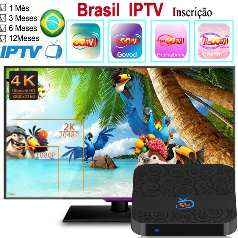 US $5 8 |1/3/6/12Months GoTV Brazil IPTV apk Support any Android box mobile  tablet pc and android tv with VOD +LIVE +PLAYBACK +Porn-in Set-top Boxes